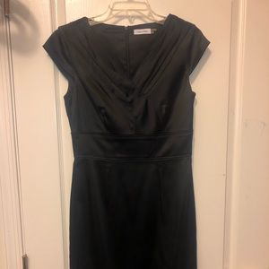 Black Calvin Klein silk material dress